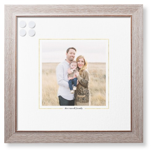 Simply Framed Framed Magnetic Board, Rustic, Modern, 16 x 16 inches, White