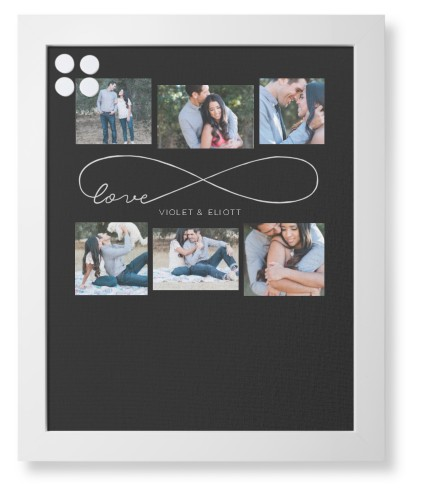 Love Infinity Framed Magnetic Board