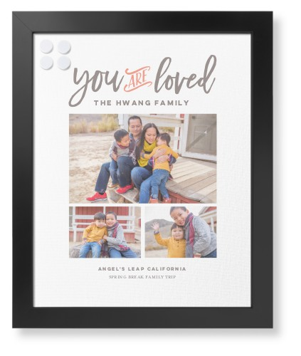 You Are Loved Collage Framed Magnetic Board, Black, Contemporary, 16 x 20 inches, DynamicColor