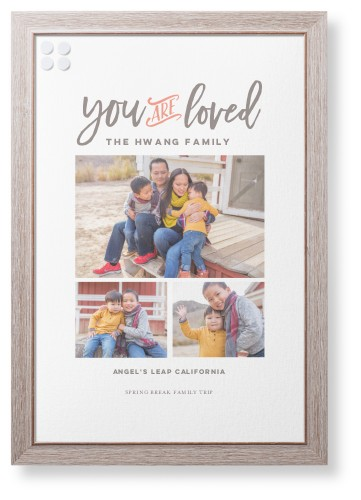 You Are Loved Collage Framed Magnetic Board, Rustic, Modern, 20 x 30 inches, White