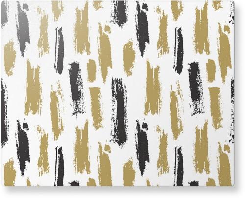 Brushstroke Lines Metal Wall Art, Single piece, 8 x 10 inches, True Color / Matte, Multicolor