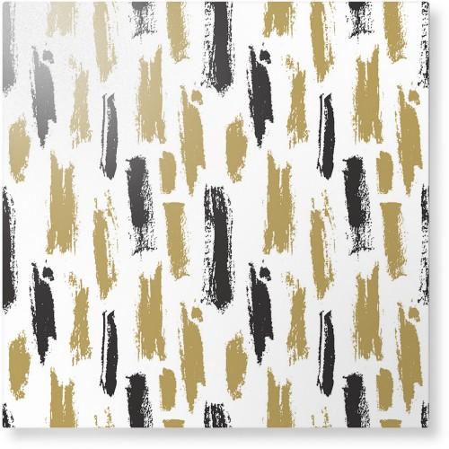 Brushstroke Lines Metal Wall Art, Single piece, 16 x 16 inches, True Color / Matte, Multicolor