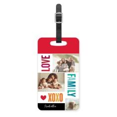 family love xoxo luggage tag