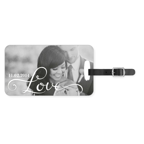 Hand-Lettered Love Luggage Tag