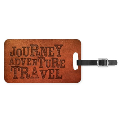 Well Traveled Journey Luggage Tag, Large, Brown