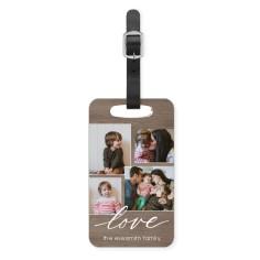 rustic love luggage tag