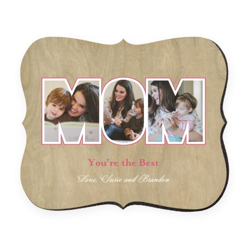 Mom You're The Best Mouse Pad, Bracket, Beige