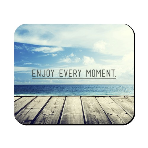 Enjoy Every Moment Mouse Pad, Rectangle, Black
