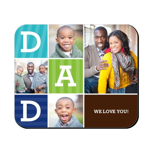 Dad Color Blocks Mouse Pad
