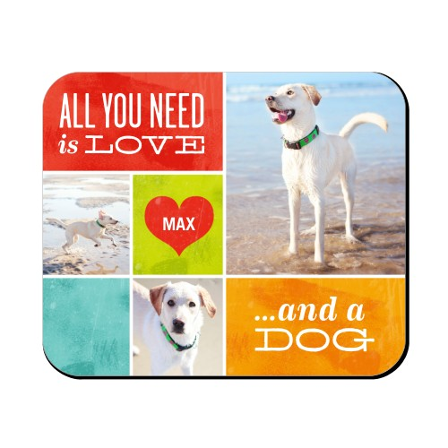 Love and a Dog Mouse Pad | Custom Mouse Pads | Shutterfly