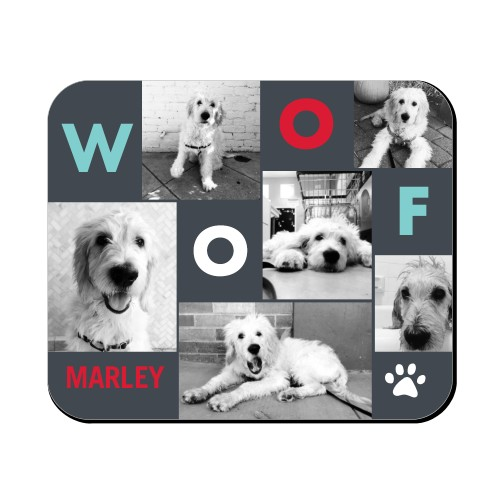 Best In Show Woof Mouse Pad, Rectangle, DynamicColor