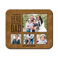 dad hero mouse pad