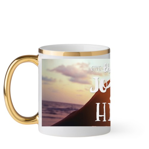 Joyful Heart Mug, Gold Handle,  , 11 oz, Multicolor