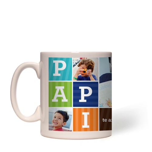 Papi Mug, White,  , 11 oz, Brown