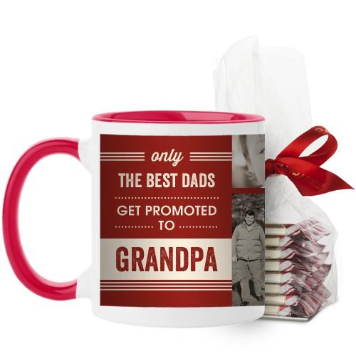 The Best Mug, Red, with Ghirardelli Peppermint Bark, 11oz, Red