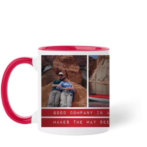 The Journey Mug, Red,  , 11 oz, Red