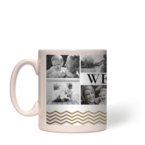 We Love Mom Chevron Border Mug