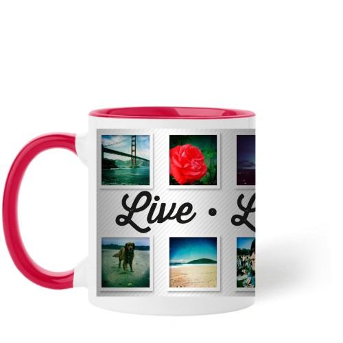 Live Laugh Love Mug, Red,  , 11 oz, White