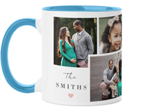 overlap family collage mug