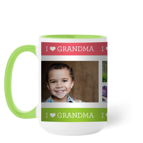 I Heart Grandma Mug, Green,  , 15 oz, Pink