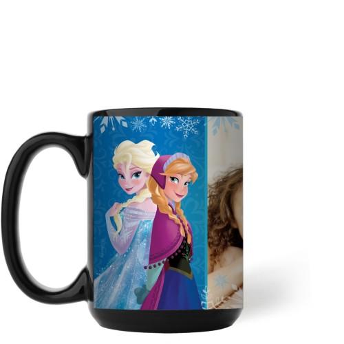 Disney Frozen Anna And Elsa Mug, Black,  , 15 oz, Blue