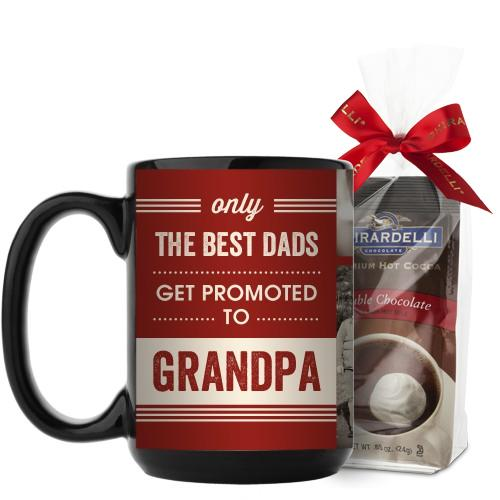 The Best Mug, Black, with Ghirardelli Premium Hot Cocoa, 15 oz, Red