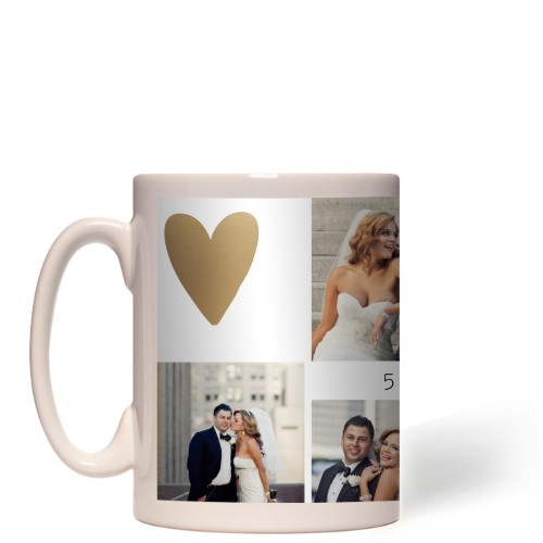 Love Is All You Need Mug, White,  , 15 oz, goldfoil