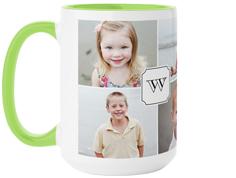 traditional monogram mug