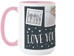 love to the moon and back denim mug