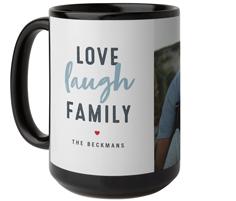 love laugh family mug