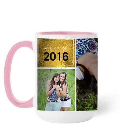 Shining Grad Mug, Pink,  , 15 oz, Black