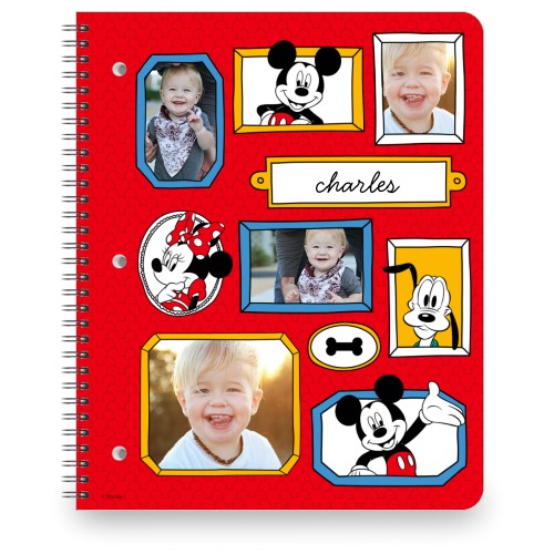 Disney Mickey And Friends Notebook, 8.5x11, Red