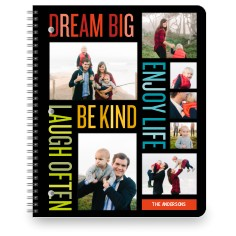 sentiment collage large notebook
