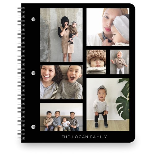 Vertical Gallery Collage of Seven Large Notebook