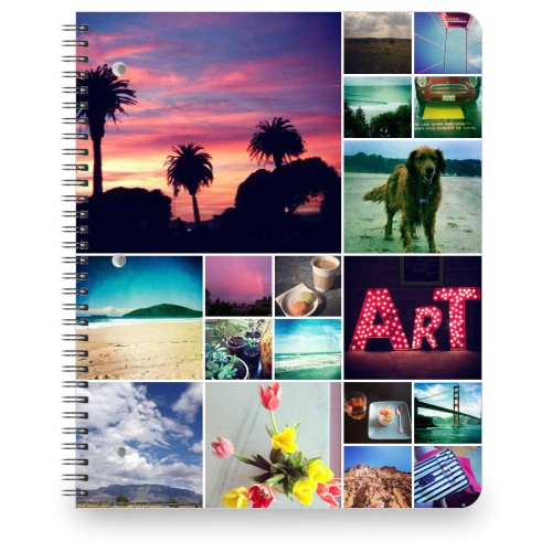 Collage Squares Large Notebook, 8.5x11, White