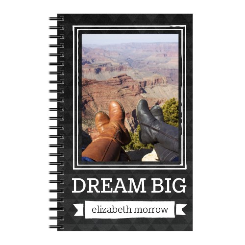 Dream Big 5x8 Notebook, 8x5, Grey