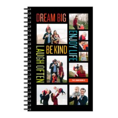 sentiment collage 5x8 notebook