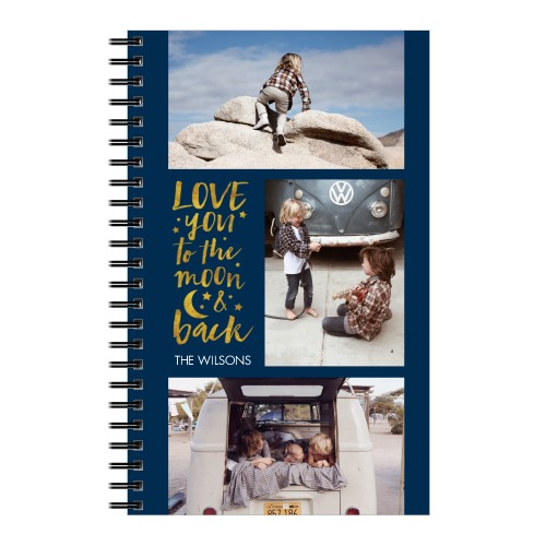 To The Moon and Back Grid Collage Notebook, 8x5, DynamicColor