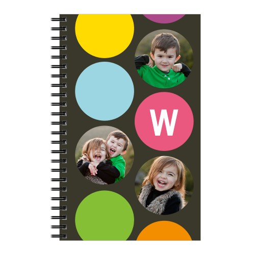 Color Dot Notebook, 8x5, Grey
