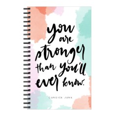 watercolor stronger 5x8 notebook