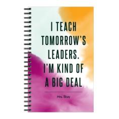 watercolor teacher 5x8 notebook