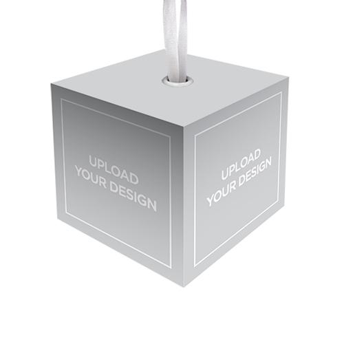Upload Your Own Design Cube Ornament, Multicolor, Cube