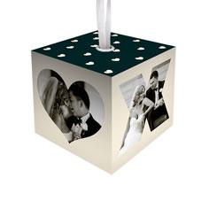 xoxo heart cube ornament