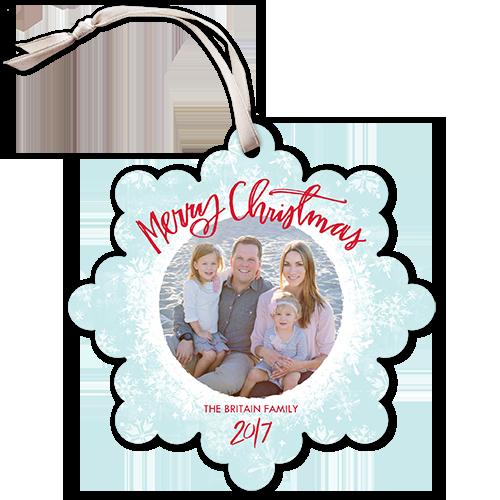 Snowfall Serenity Christmas Card, Square
