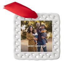 family christmas tree ceramic ornament