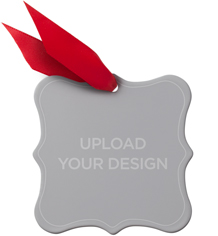 upload your own design metal ornament