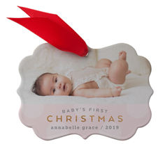 babys first christmas dots metal ornament