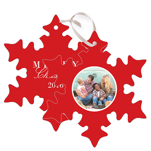 Tilty Collage Metal Ornament, DynamicColor, Snowflake