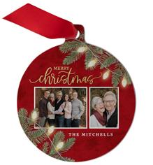 christmas light metal ornament