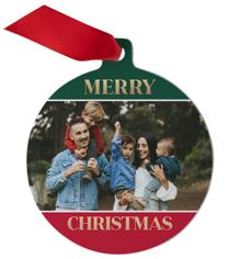 iconic christmas colorblock metal ornament
